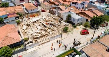 Prédio de sete andares desaba em Fortaleza; bombeiros procuram por sobreviventes