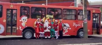 Ônibus do Papai Noel circula por Uberlândia até a véspera de Natal
